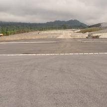 Vue du parking ouest du stade de Limbe à partir du palier 1